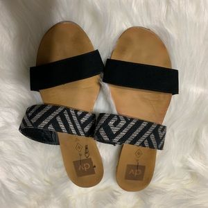 Aztec black and grey dolce vida strappy sandals